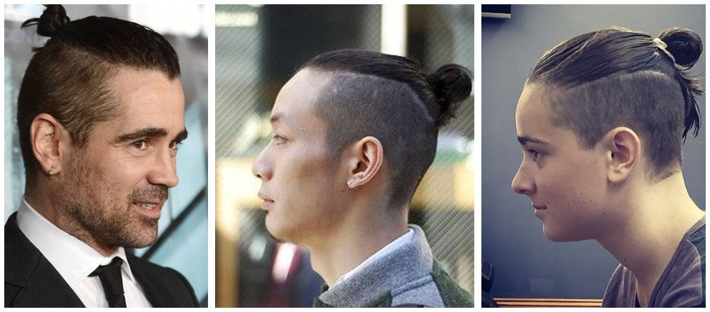 model rambut pria 11 top knot